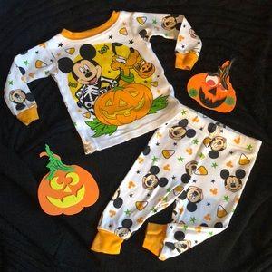 Disney Mickey Mouse Halloween Pajamas Size 9 mo
